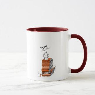 Caneca gatinho do livro