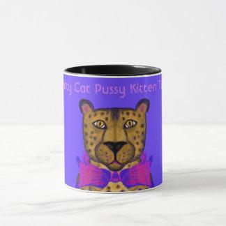 Caneca Gatinho - ilustração bonito do leopardo