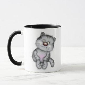 Caneca Gato cinzento engraçado