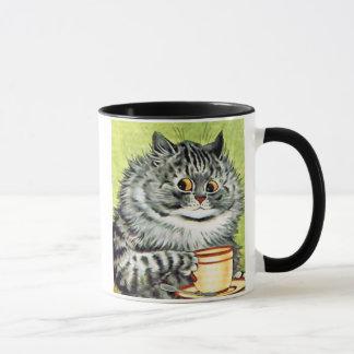 Caneca Gato do Teacup por Louis Wain