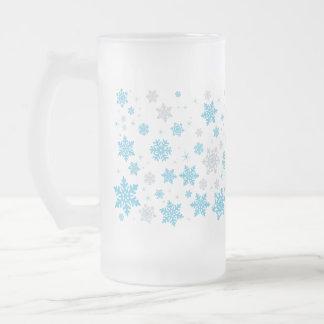 Caneca gelado do floco de neve