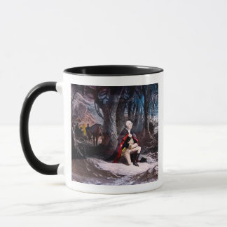 Caneca General Washington que Praying na forja do vale,