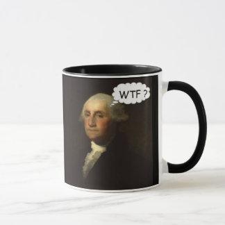 Caneca George Washington que gira em sua sepultura