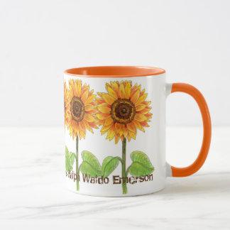 Caneca Girassóis - a terra ri nas flores