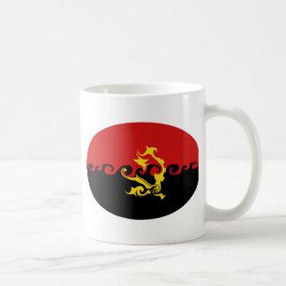 Caneca Gnarly da bandeira de Angola