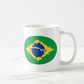 Caneca Gnarly da bandeira de Brasil