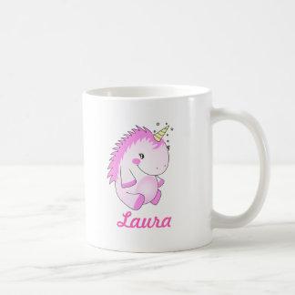 Caneca gorda cor-de-rosa bonito do nome do