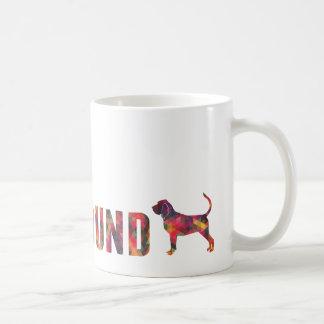 Caneca gráfica colorida do Bloodhound multi