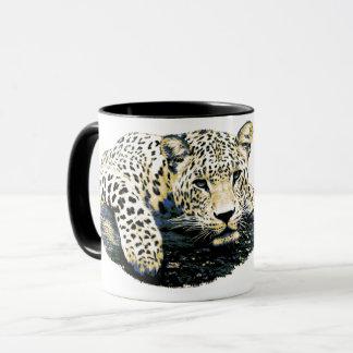 Caneca Gráfico bonito do leopardo