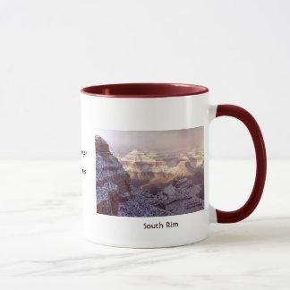 Caneca Grand Canyon na neve do inverno