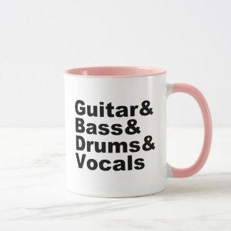 Caneca Guitar&Bass&Drums&Vocals (preto)