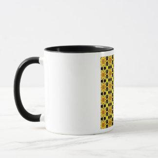 Caneca Gustavo Klimt o ouro do preto do amarelo do teste
