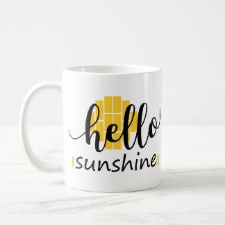 Caneca Hello Sunshine - Sol quadriculado
