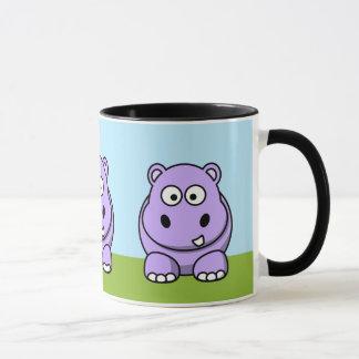 Caneca Hipopótamo bonito da lavanda