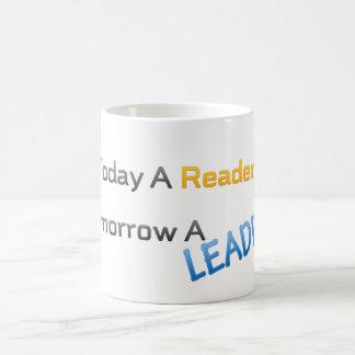 caneca hoje um leitor amanhã um líder