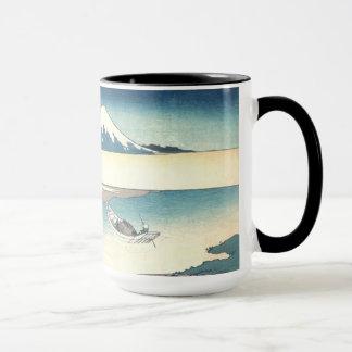 Caneca Hokusai: Fuji de um barco