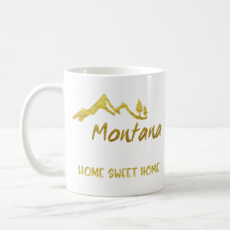 Caneca Home doce das montanhas de Montana da casa