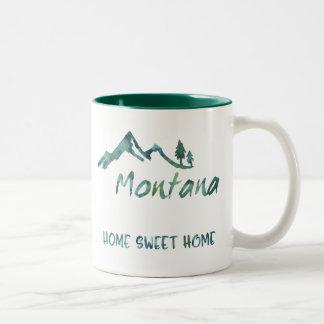 Caneca Home doce de Montana da casa verde da