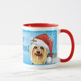 Caneca Howlidays feliz Terrier de seda
