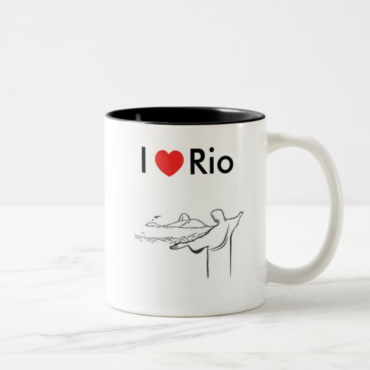Caneca I love Rio de Janeiro em dois tons