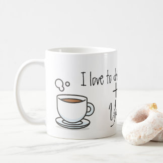 "Caneca ""I Love to Drink Coffee + You"" 325ml"