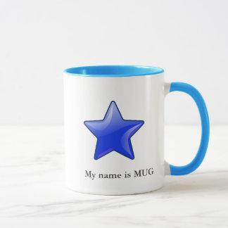 Caneca ícone com seu nome - mug2 da estrela
