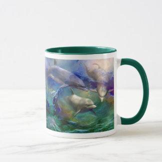 Caneca ideal da arte do golfinho