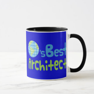 Caneca Ideia do presente para o arquiteto (mundos