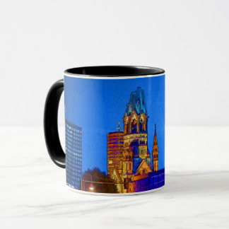 Caneca Igreja memorável de Kaiser Wilhelm, Berlim, Illu