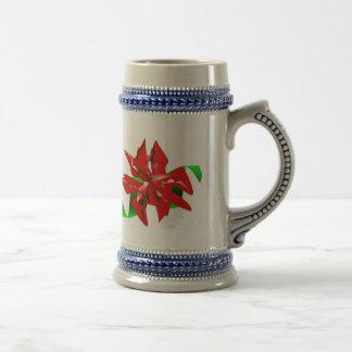 Caneca III da flor do Natal customizável
