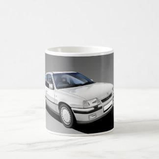 Caneca ilustrada do GTE de Vauxhall Astra carro