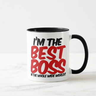 Caneca im o melhor chefe no mundo largo do todo