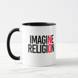 Caneca IMAGINE a RELIGIÃO - NENHUMA - - a Pro-Ciência -