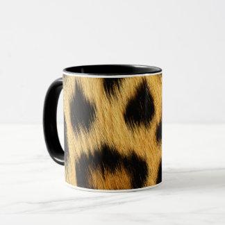 Caneca Impressão animal da pele do leopardo