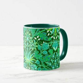 Caneca Impressão do jacinto de William Morris, verde