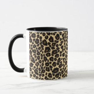 Caneca Impressão do leopardo