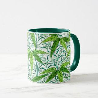 Caneca Impressão, verde e branco de bambu de William