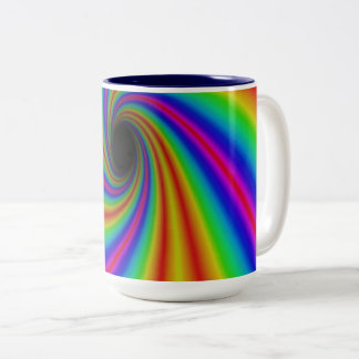 Caneca impressionante do arco-íris