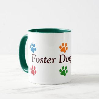 Caneca Impressões Mamã-Coloridos da pata do cão adoptivo