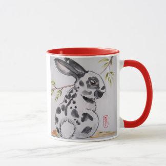 Caneca inglesa do design do coelho de coelho do