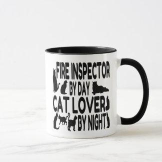 Caneca Inspector do fogo do amante do gato