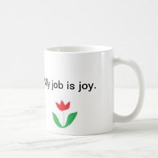 Caneca inspirada - alegria com flor