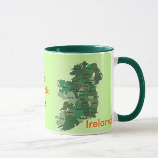 Caneca irlandesa de Ireland do mapa dos condados