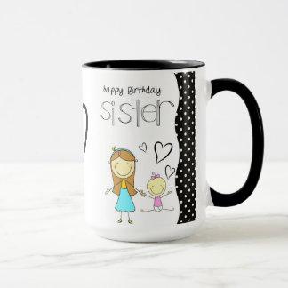 Caneca Irmã do feliz aniversario