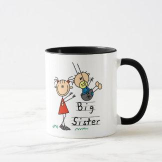 Caneca Irmã mais velha com camiseta e presentes do irmão