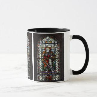 Caneca Janela de vitral de St George - monograma
