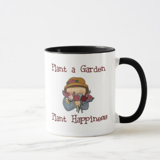 Caneca Jardinagem da felicidade da planta