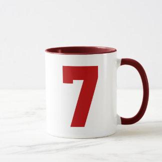 Caneca Jérsei vermelho número 7