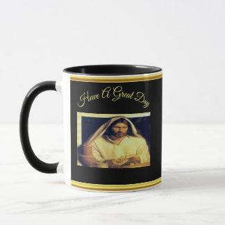 Caneca Jesus que quebra a textura do ouro de matthew
