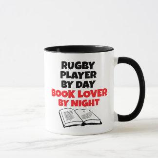 Caneca Jogador do rugby do amante de livro